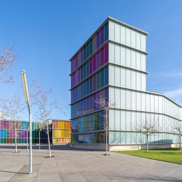 fotografia de arquitectura edificio lateral musac leon
