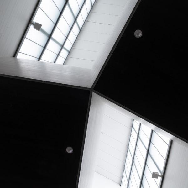 fotografia de arquitectura techo interior musac leon