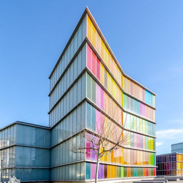 fotografia de arquitectura edificio principal musac leon