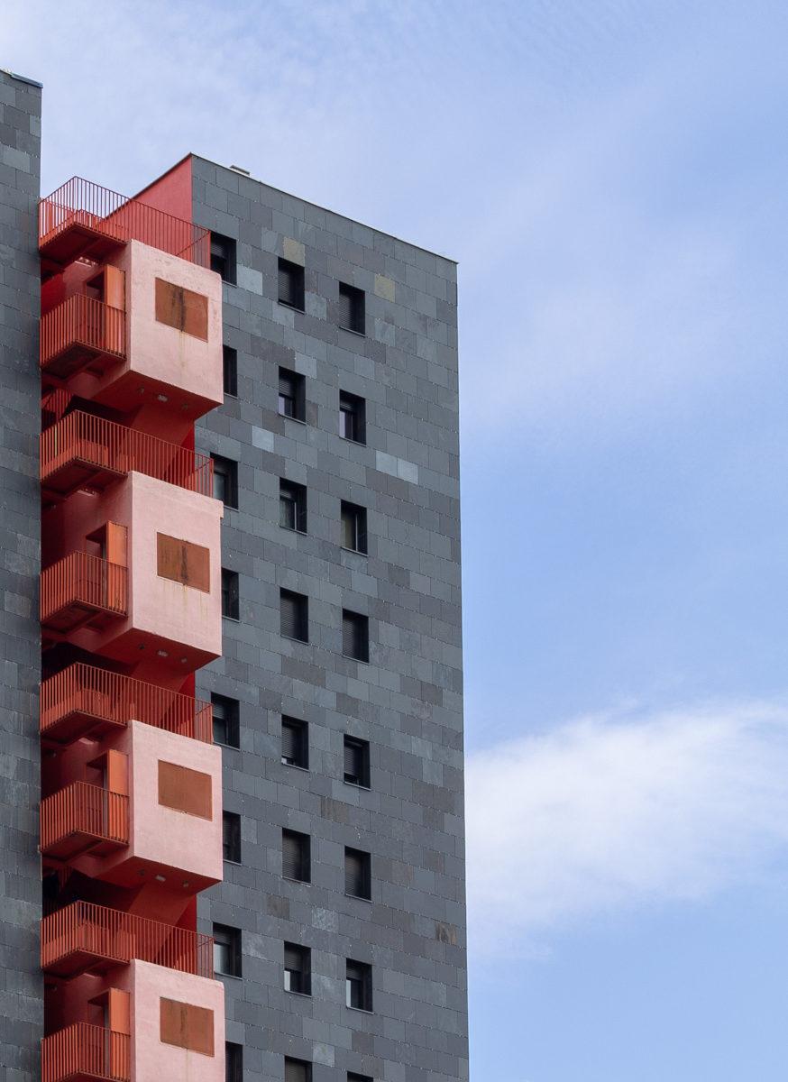 edificio mirador detalle fachada