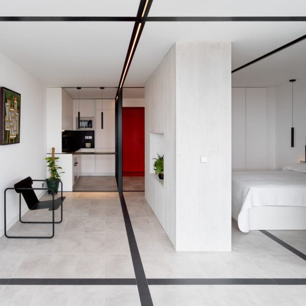 salon y habitacion apartamento