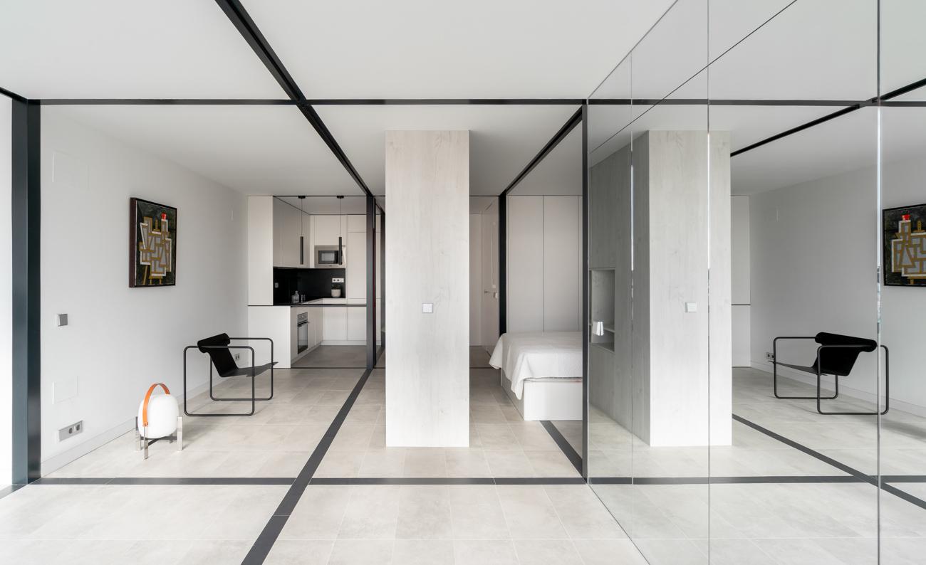 interior apartamento triedrico