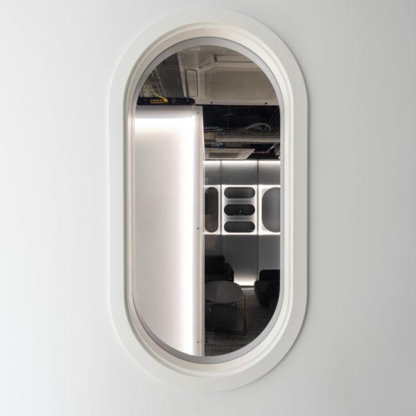 fotografia de interiorismo exterior sala tech