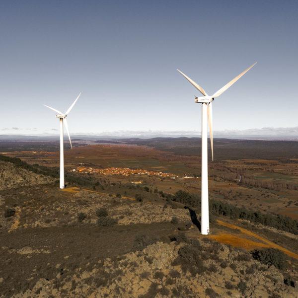 fotografia drone molinos eolicos