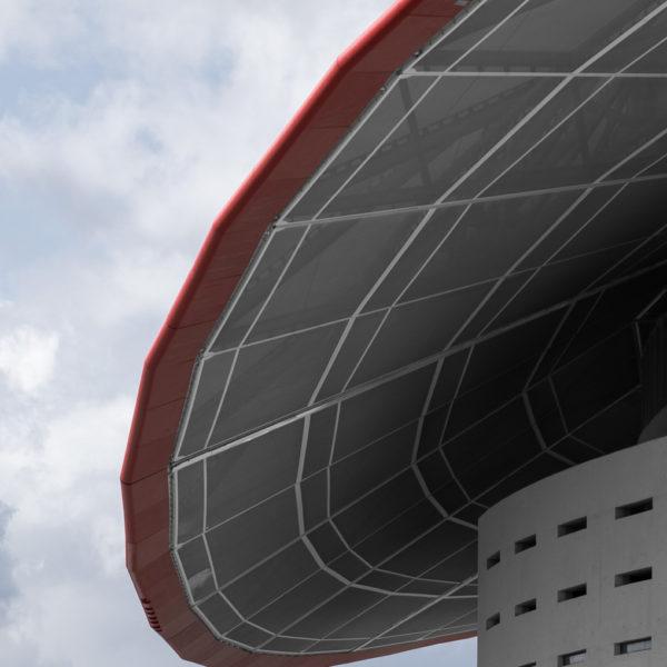 detalle cubierta oeste estadio