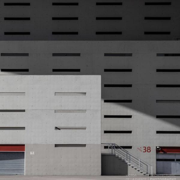 detalle fachada hormigon estadio