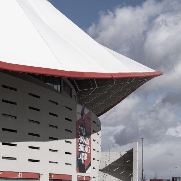 detalle cubierta este estadio