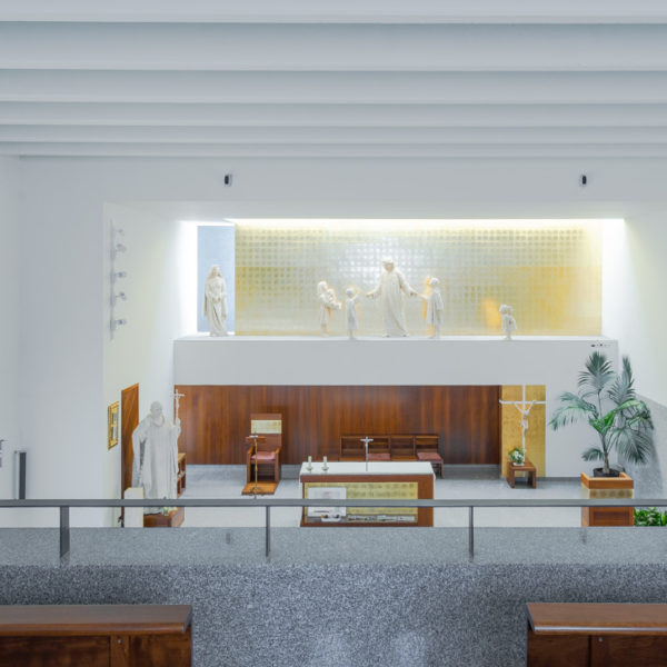 iglesia juan pablo II Valladolid vista interior desde el coro