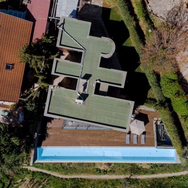 foto aérea cenital de la vivienda