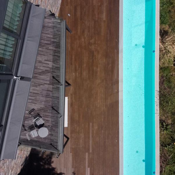 foto aerea piscina